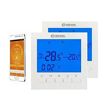 Beok BOT-313WIFI para calderas de gas, WiFi, pantalla LCD, aplicación programable