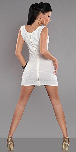 Instyle - Vestido - para mujer Weiß