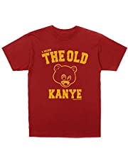 Kanye West I Miss the Old Kanye College Dropout T-shirt + Hip-Hop Stickers (L)