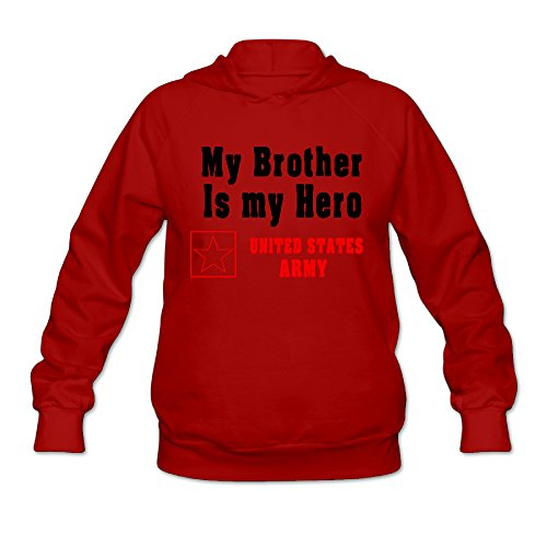 RABBEAT Women's Hoodies My Brother Is My Hero Size XXL Red