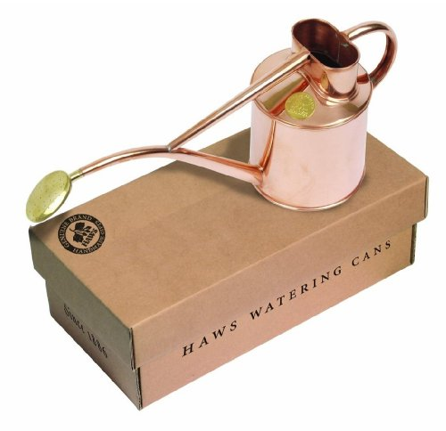 Haws Indoor Watering Can with Rose and Gift Box, 2-Pint/1-Liter, Copper ()