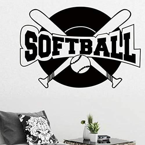 GUUTOP Breve Patrón de Softbol Adhesivo Letras Grandes de ...