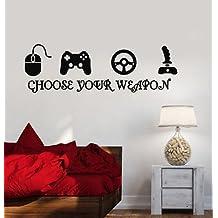 Gamer Vinyl Stickers Video Game Play Room Joystick eSports Wall Decal VS216