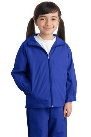 Sport-Tek Youth Hooded Raglan Jacket, True Royal, M by Sport-Tek