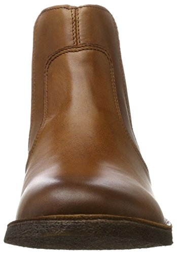 Women's Brown Boots Kickers Creboots Camel Chelsea qwCxBf0