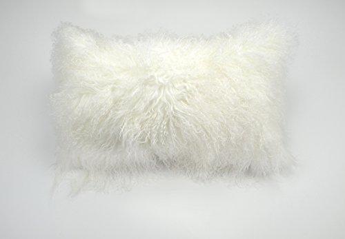 Tibetan Comb - PRChomecollection 100% Real Tibetan Mongolian Lamb Fur Pillow Cover - 12