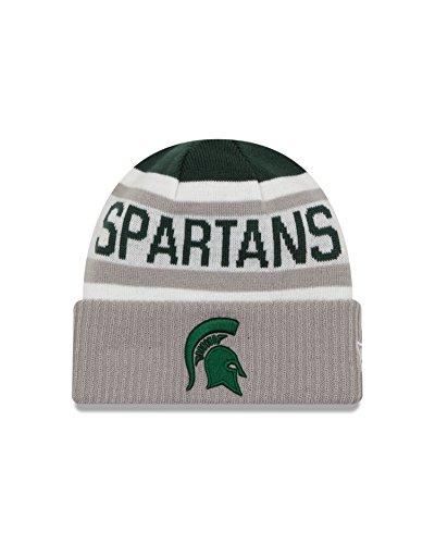 New Era NCAA Michigan State Spartans Biggest Fan 2.0 Cuff Knit Beanie, Gray, One Size