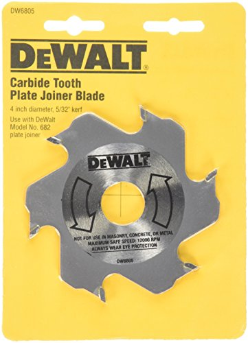 DEWALT DW6805 4-Inch 6 Tooth Carbide Plate Joiner Blade
