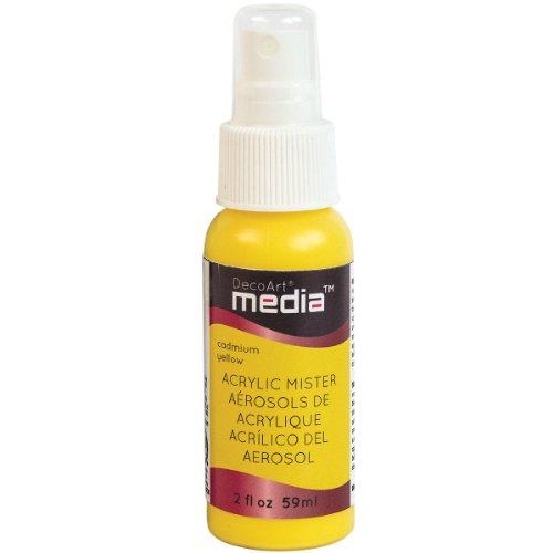 DecoArt Media Acrylic Mister, 2-Ounce, Primary Yellow