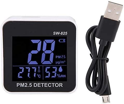 Mini air quality monitor SW-825 Air quality sensor detector Portable PM2.5 detectorindoor and outdoor temperature and humidity USB USB Quality Tester / Mini air quality monitor SW-825 Air quality sensor detector Portable PM2.5 dete...