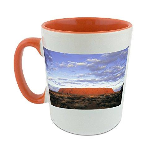 AUSTRALIA NORTHERN TERRITORY ULURU NATIONAL PARK ULURU AYERS ROCK mug with orange inner coat