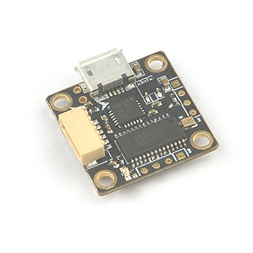 QWinOut Teeny1S F3 Flight Controller Board Built-in Betaflight OSD + 4 In 1 6A BLHeli_S ESC for 60mm-80mm Mini FPV Quadcopter Drone (Programmable Flight Controller)