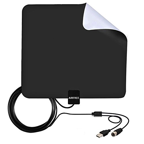 Amplified HDTV Antenna,50 Miles Range Digtial Indoor TV Antenna with High Reception and 13.2ft Coaxial cable (Cable Video Digtial)