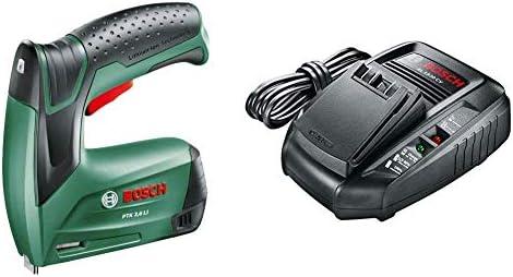 Bosch PTK 3,6 LI - Grapadora a batería, 3.6 W, 3.6 V (ref. 0603968100) + Bosch AL 1830 CV - Cargador para baterías (14,4 V y 18 V, 40 minutos, Power for all): Amazon.es: Bricolaje y herramientas