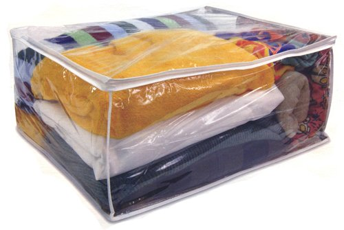 Heavy Duty Vinyl Blanket Storage Bag Jumbo Clothes Bag 11