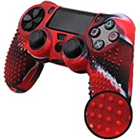 Camouflag Anti-slip Soft Silicone Thicker Half Skin Cover Case for Play Station 4 PS4 /SLIM /PRO Controller