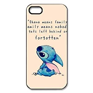 018 HOT Selling Funny Cute OHANA & Classic Family Quote Phone Case for APPLE iPhone 5 5s Best Durable Hard Plastic Case