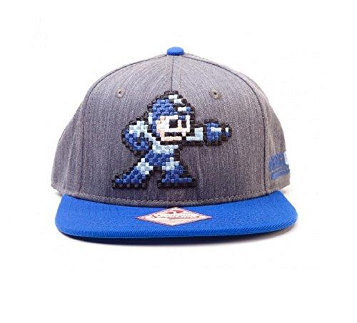 [Megaman Baseball Cap Pixel Character Official Snapback] (Megaman Hat)