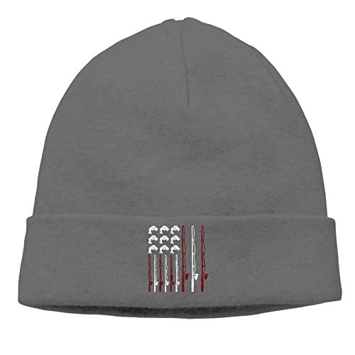 Fishing ruishandianqi amp;Womens American Bass Cap Outdr Flag Skull Beanie Gorras béisbol Black Mens Daily Patriotic Hat CxgSw8rC