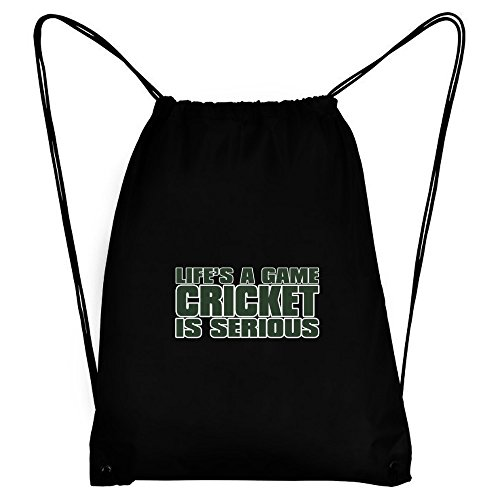 Teeburon LIFE IS A GAME , Cricket IS SERIOUS !!! Sport Bag by Teeburon