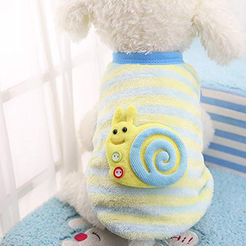 (HHmei Cute Dog Puppy Clothing Sweater Small Puppy Shirt Soft Pet Coats - Pet Warm Snail Clothes, Decorative-Saucers | Outdoor Blue Silver Table Gold Set Lights Indoors led Garland Lighted White )