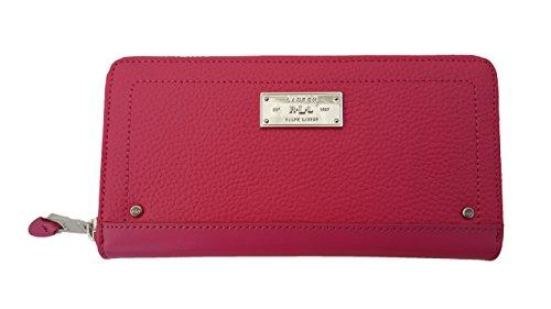 Lauren Ralph Lauren Fulton Zip Wallet (One Size, Azalea) by Ralph Lauren