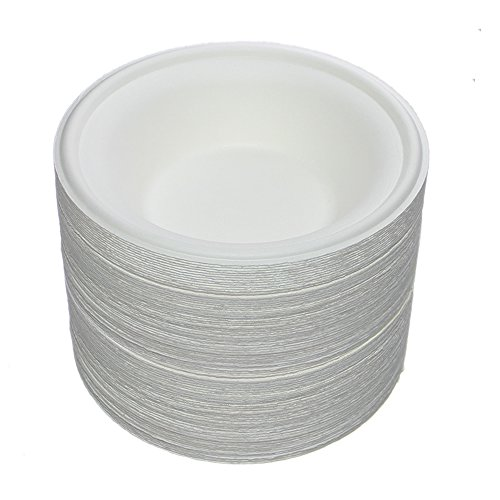 Benail 150 Pack 12 oz Round Disposable Bowls Eco-friendly 100% Natural Sugarcane Biodegradable Compostable Bagasse Tree Free and Plastic Free (150)