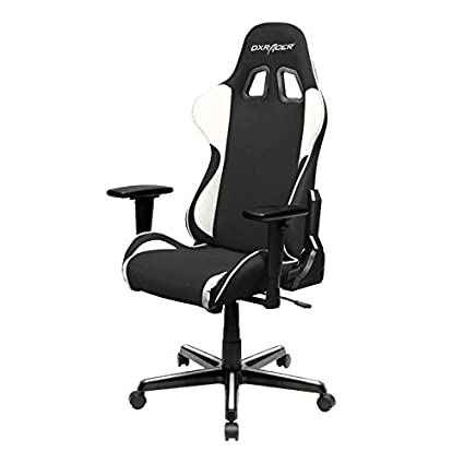 Fabulous Dxracer Fh11 Nw Black White Formula Series Racing Bucket Seat Office Chair Gaming Ergonomic With Lumbar Support Machost Co Dining Chair Design Ideas Machostcouk