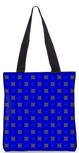 """Snoogg Goldenen Blöcke Blaues Muster-Einkaufstasche 13,5 X 15 In """"Einkaufstasche Dienstprogramm Trage Von Polyester Canvas"""