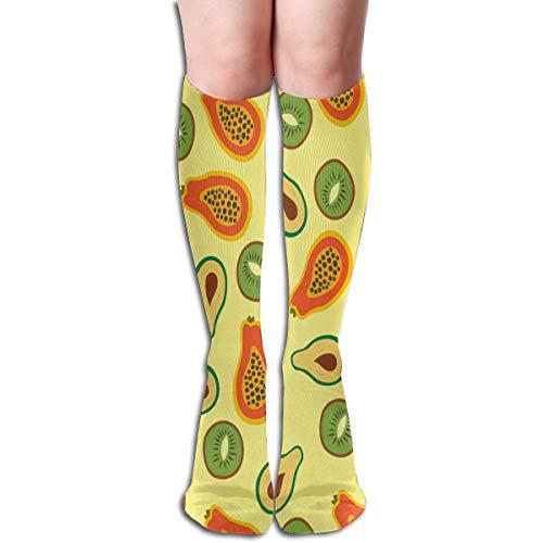 Socks Avocado Kiwi Papaya Trendy Womens Stocking Gift Sock Clearance for Girls for $<!--$11.99-->
