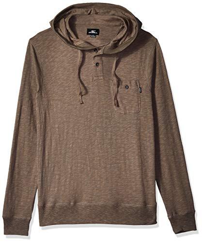 O'Neill Men's Hooded Henley Knit Top, Stinson Dark Army, XXL ()