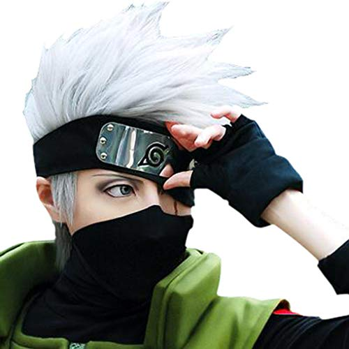 HOT! Hatake Kakashi Silver Gray Short Anime Cosplay, used for sale  Delivered anywhere in USA
