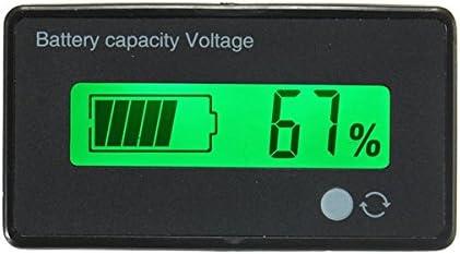 Bluelover 12V/24V/36V/48V 8-70V Lcd Ácido P Batería De Litio Indicador De Capacidad Voltímetro Digital