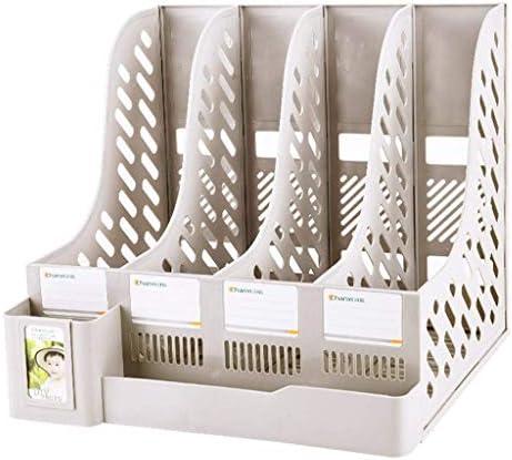 Akten-Halter Bürobedarf Buchständer Einfaches Desktop-Ordner Ordner Storage Box Storage (Farbe: Schwarz) Xping (Color : White)