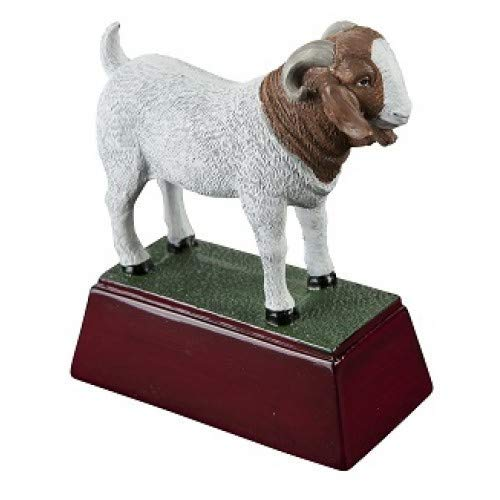 (Trophy Crunch Goat Mascot School Gift & Award - Free Custom Engraving)