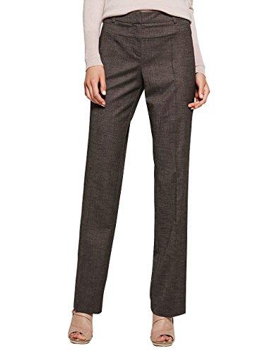 Comma 85.899.73.0132 - Pantalones Mujer Grau (grey/black tweed 96P2)
