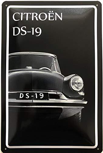 Deko7 Blechschild 30 x 20 cm Citroen DS-19 Black