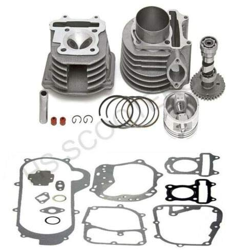 Piston Kit Performance High - Cylinder and Head 61mm Alloy Big Bore Kit GY6 150cc Scooters Mopeds Performance
