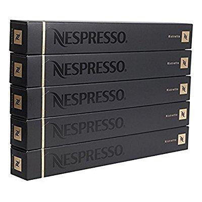 50 Nespresso OriginalLine: Ristretto, 50 Count - NOT compatible with VERTUOLINE