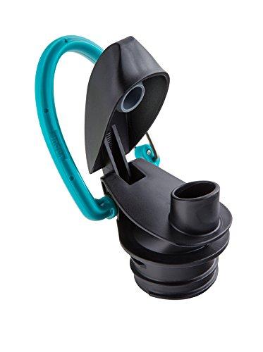 Vapur - Element 1.0L BPA Free Foldable Flexible Water Bottle w/Carabiner (Grey/Teal) by Vapur (Image #3)