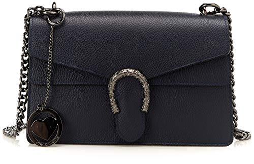 Chicca Shoulder Blue Bag Cbc3310tar Blue Borse dark Women's twqI0tr
