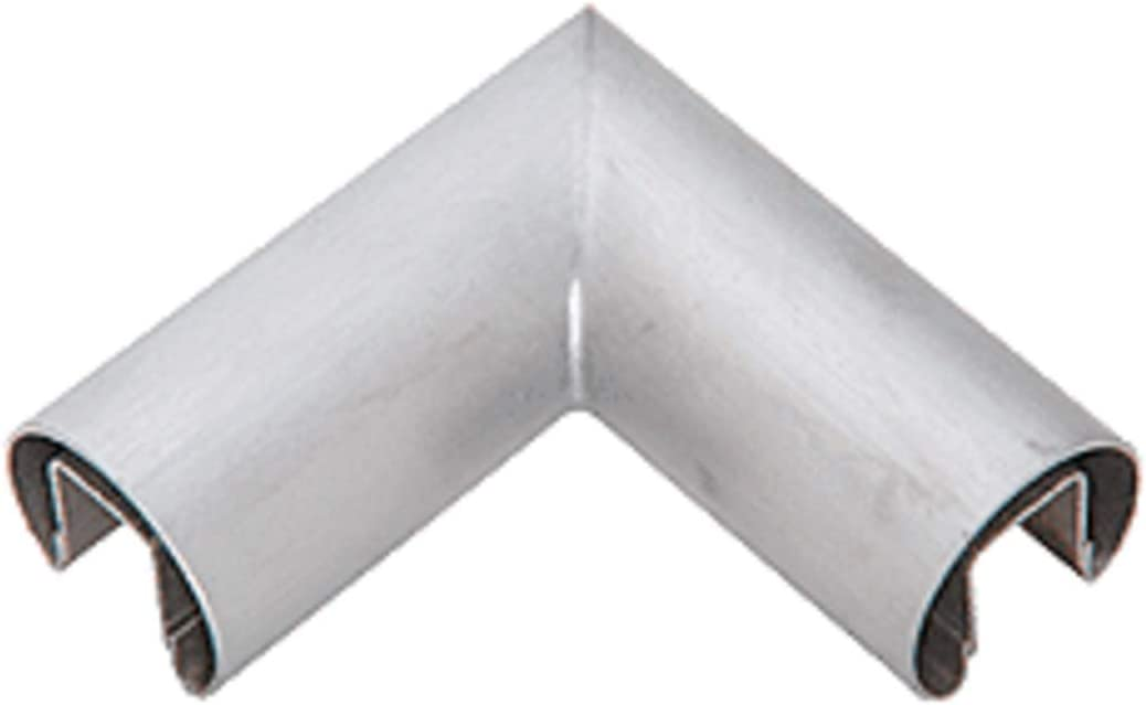 CRL GR16HBS Brushed Stainless 1.66 Diameter 90 Degree Horizontal Corner for 1//2 or 5//8 Glass Cap Railing