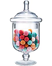 Diamond Star Clear Glass Apothecary Jars, Candy Buffet Display, Elegant Storage Jars, Decorative Wedding Candy Canisters