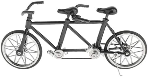 MagiDeal Modelo de Bicicleta Tándem de Simulación en Miniatura de ...