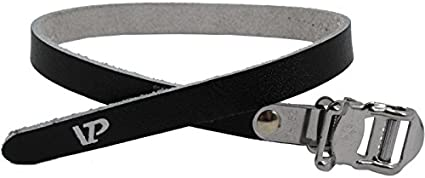 VP Components VP-715 Leather Toe Straps Black