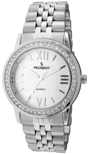 Peugeot Women's 7082S Analog Display Japanese Quartz Silver Watch