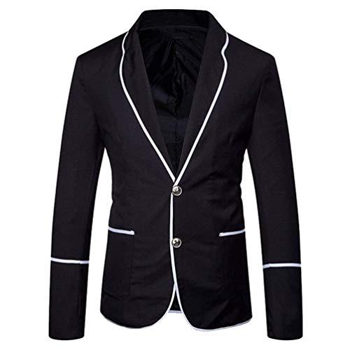 De Costume Mariage Coupe Ajustée Élégante Style Schwarz Hommes Veste Pour Blazer Campus Essentiel ROqd5Ow