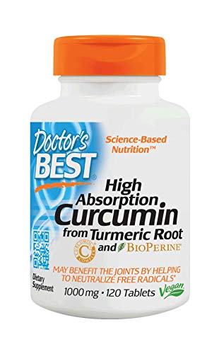Complex 120 Tabs - Doctor's Best Curcumin From Turmeric Root with C3 Complex & BioPerine, Non-GMO, Gluten Free, Soy Free, Joint Support, 1000 mg, 120 Tablets
