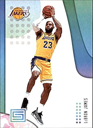 29a2a3a54a36c Amazon.com: 2018-19 Panini Status #57 LeBron James NM-MT Los Angeles ...