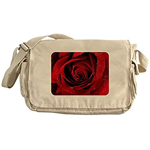 Royal Lion Khaki Messenger Bag Red Rose - Pansy Messenger